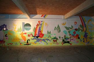 étape mise en couleurs fresque