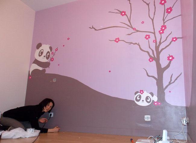 Fresque murale chambre fille for Peinture mur chambre fille