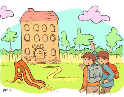 illustration rentrée des classes